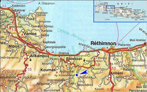 Agios Konstantinos: Lageplan